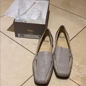 Amalfi Italian loafer leather grey